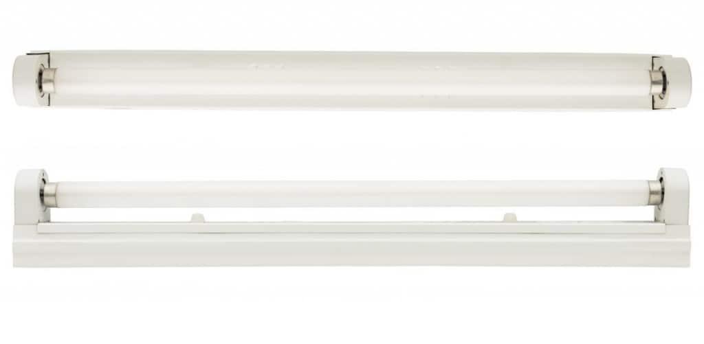Fluorescent Tube Lighting isolated on white