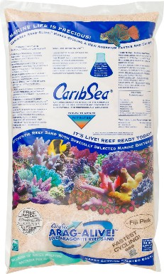 CaribSea Arag-Alive Live Aragonite Reef Sand, Fiji Pink, 20-lb bag