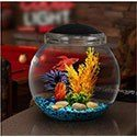 Koller Products 1-gallon fishbowl with LED lighting