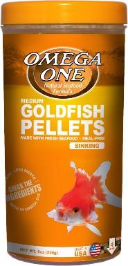 Omega One Medium Sinking Goldfish Pellets Fish Food