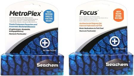 Seachem Aquarium Water Treatment Set - MetroPlex & Focus