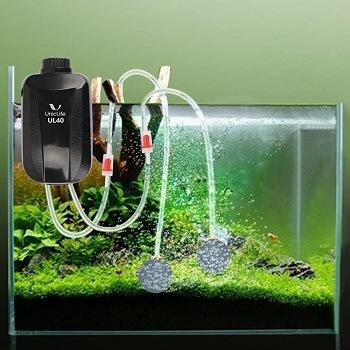 Uniclife Aquarium Air Pump Dual Outlet feat